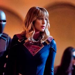 "Supergirl -- ""Event Horizon"" -- Image Number: SPG501a_0125b.jpg -- Pictured (L-R): Mehcad Brooks as James Olsen/Guardian, Melissa Benoist as Kara/Supergirl, Nicole Maines as Nia Nal/Dreamer and Jesse Rath as Brainiac-5 -- Photo: Dean Buscher/The CW -- © 2019 The CW Network, LLC. All Rights Reserved."